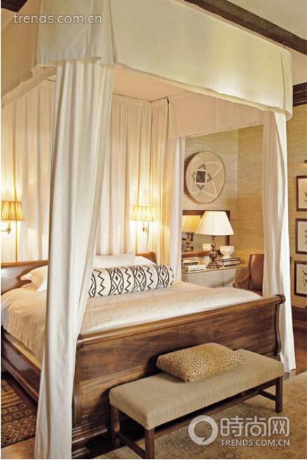 欧式风格的卧室中并不少见