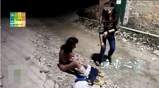 广东清远初中女生遭虐打
