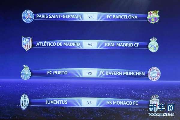 2015年欧冠8强抽签 2015欧冠8强抽签规则 2015欧冠赛程表