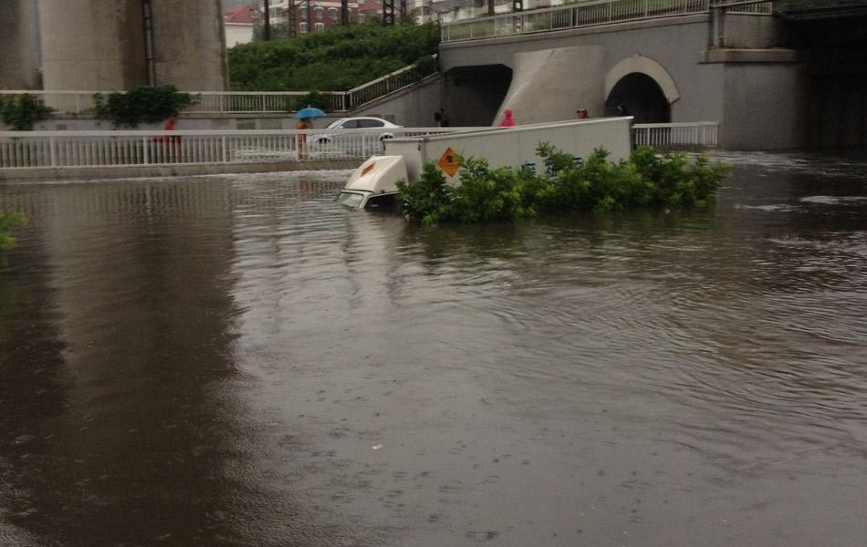 7月25日凌晨5时至26日7时,天津普降大到暴雨。据天津市气象台最新监测数据显示,市区平均降水量为100.2毫米,达到大暴雨级别。最大降雨出现在西青,为195.0毫米。同时,大港、北辰、静海也出现了大暴雨。