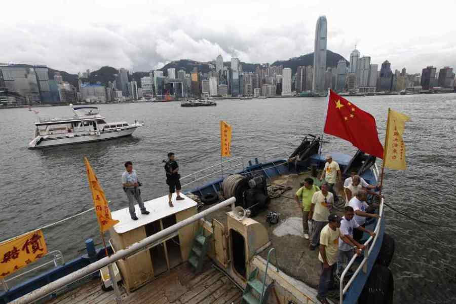 """8月12日,香港保钓行动委员会驾船""""启丰二号""""前往钓鱼岛宣示主权,预定2天后在台湾海域与台湾和内地保钓船会合,一起开往钓鱼岛。"""