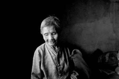 双喜村的王翠兰老人,5个儿子,目前只有一个在世。摄影:周岗峰