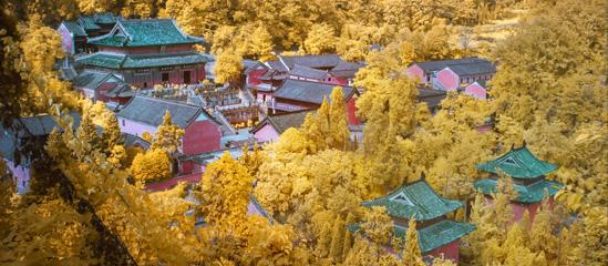 武当山之秋:层林尽染恢弘风景 迷人的壮丽
