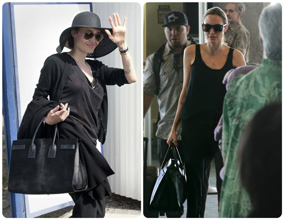 安吉丽娜-朱莉背Givenchy挎包 秒杀无数菲林|鞋|牛仔裤