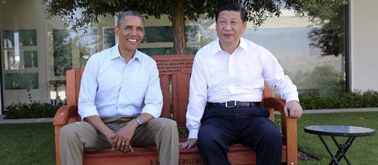 习近平与奥巴马在加州庄园内散