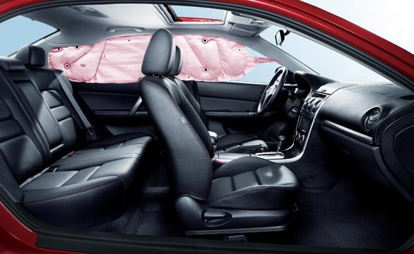 2013款Mazda6-黑红大内-气囊