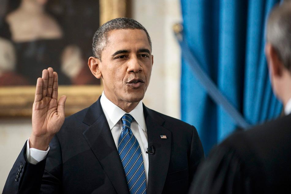 美国总统奥巴马20日宣誓就职,正式连任美国总统,不过因20日恰逢星期日,21日他还要再宣一次誓。