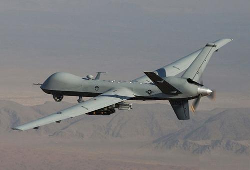 """死神/资料图:正在阿富汗进行作战的MQ/9""""死神""""无人机"""