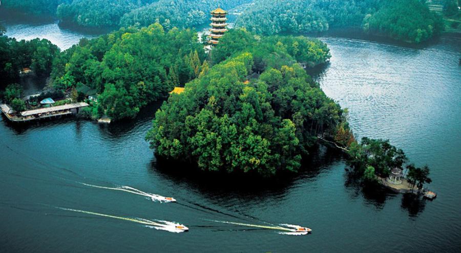 汉中南湖风景区-山水汉中 美景如画高清图片