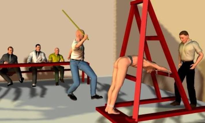新加坡鞭刑的鞭子 新加坡鞭刑伤口 新加坡酒驾鞭刑女人