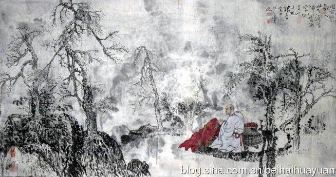 黑白色树林壁纸