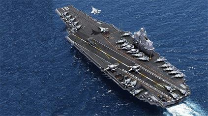 中国网友画未来航母 配电磁炮三体穿浪数百战机