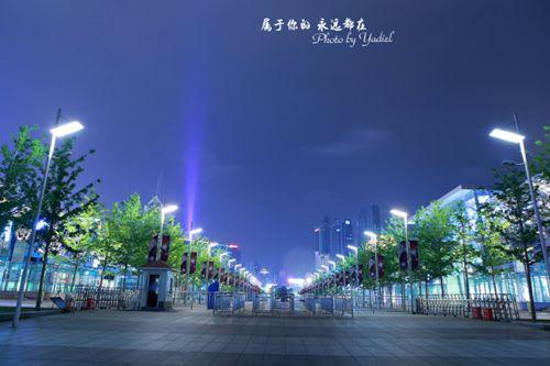 游青岛 灯火阑珊的五四广场与奥帆基地