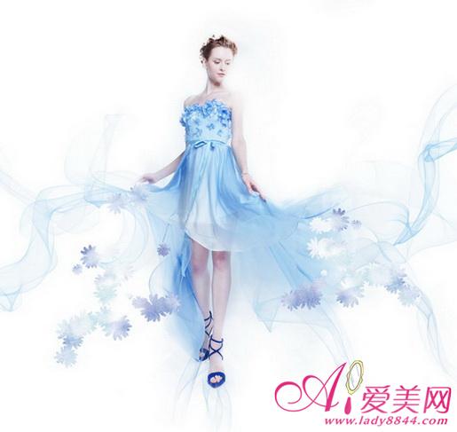 高级定制品牌 aile atelier演绎罗曼蒂渐变色婚纱系列