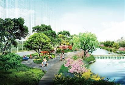 青岛滨河休闲带将成生态新景观