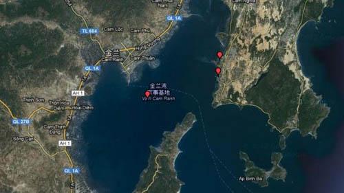 资料图:越南金兰湾军事基地地图