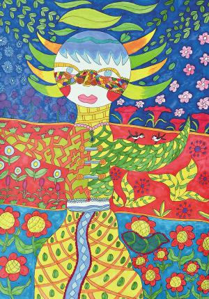 中国梦儿童绘画作品图片