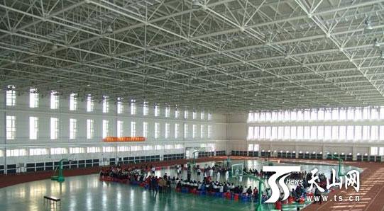 资料图片:新疆农业大学体育馆