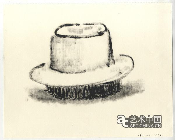 帽子  纸本油画