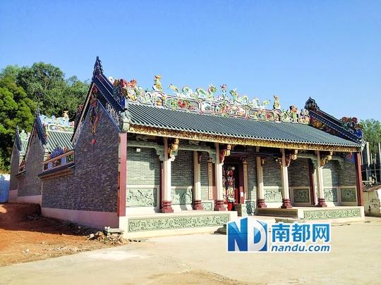 集资2000万重建宗祠与庙宇图片