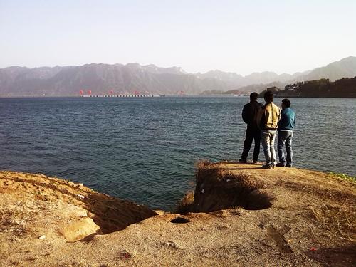 三峡库区平湖景 周边百姓亲水乐
