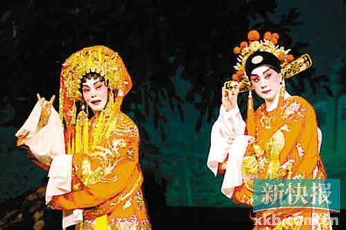 2010年香港粤剧名伶盖鸣晖,吴美英在广州中山纪念堂重演《帝女花》.图片