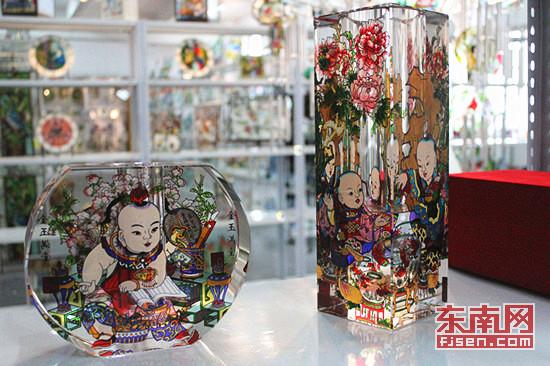 福州企业制彩绘玻璃瓶成国宾礼 盼打造文创园图片