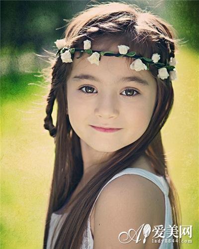 儿童扎马尾发型设计
