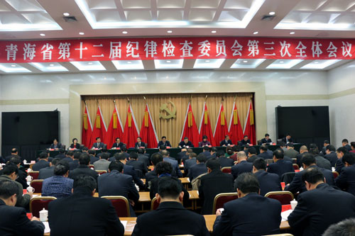 中共青海省十二届纪律检查委员会第三次全体会