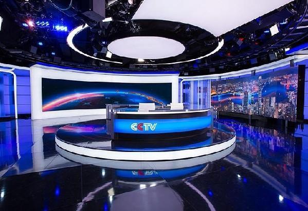 """新演播室设计以""""圆形""""为主。象征富足、生命轮回、还体现阴和阳。"""