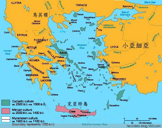 在文化上,克里特岛的文明是小亚细亚及西亚(包括