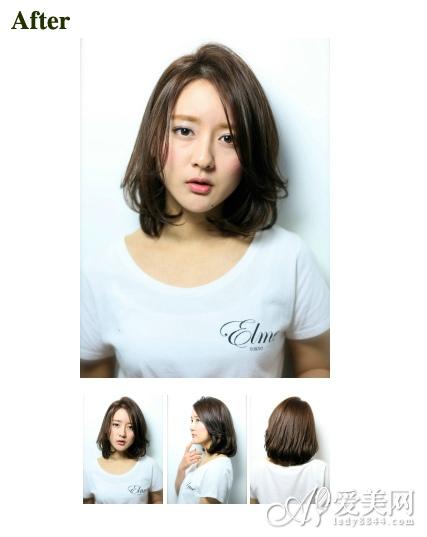 女生没有刘海的发型 夏日更加清爽图片