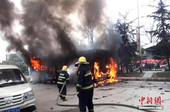 警方:贵阳公交车燃烧案嫌犯放火为报复社会