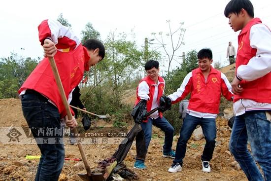 2014年广西青少年学雷锋主题教育活动启动图片