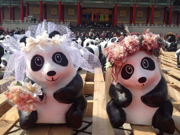 熊猫钩针毯子图解