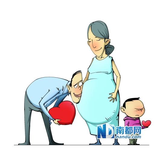 准二孩妈妈 /strong>,跟你家大宝商量过了吗?|爸爸|宝宝_凤凰图片