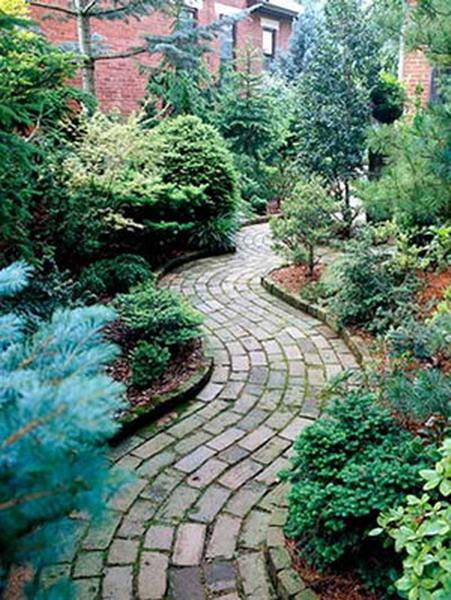 形态:多考虑植物的立体形状以求得变化。它们可能是圆形、圆柱形、披散状、波浪式或喷泉式。硬质的造园材料和花园装饰物也都有自己的形状。