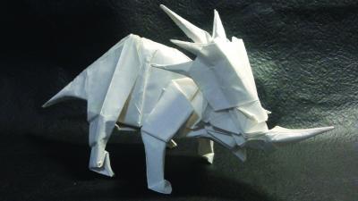 纸折双头千纸鹤步骤图解