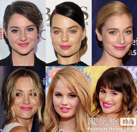 【爱美】好莱坞女星今季唇色 最爱橙和粉