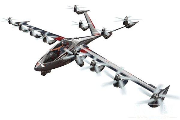 无需跑道的电动私人飞机 所有个人飞行事故中,有一半多发生在起飞或者降落时。因此,以设计类似飞机的风力发电机组闻名的发明家和实业家乔本比佛特立意抛弃跑道。40岁的比佛特将他手下的风机研发团队动员起来,发明了一架私人电动飞机,名叫S2。它像直升飞机一样,以垂直方式起飞,但又像普通飞机那样飞行。 目前他们还没有造出全尺寸的样机,但是比佛特及其团队已经造出了20多个各重10磅的模型,以展示其设计理念。美国宇航局(NASA)注意到了他们的发明,现出资支持他们研发一台55磅重的无人机。全尺寸的S2重1700磅,通