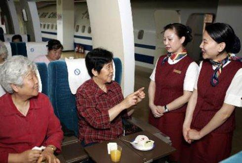 中国第一批空姐什么样(组图)|航空| 空乘