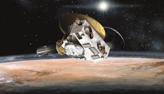 飞往冥王星的新视野号探测器。