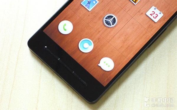 锤子手机T1正面底部的三枚实体按键