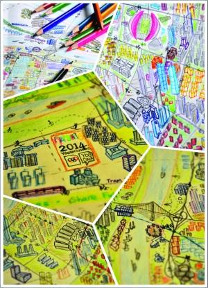 90后南京小伙手绘4幅河西地图