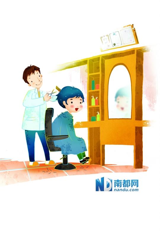理发店理发存三大隐患 宝宝发型父母最好diy