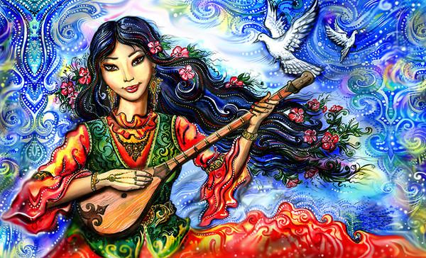 妖妖の哈萨克绘画