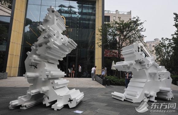 先锋精神的公共艺术装置亮相申城(图)