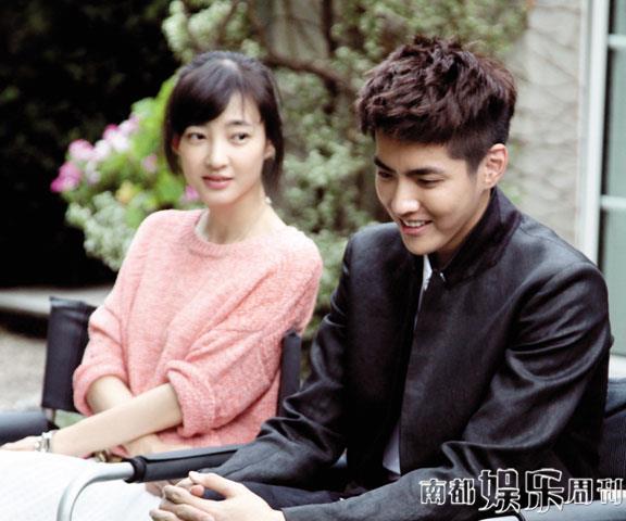 清新范儿的美女帅哥王丽坤和吴亦凡