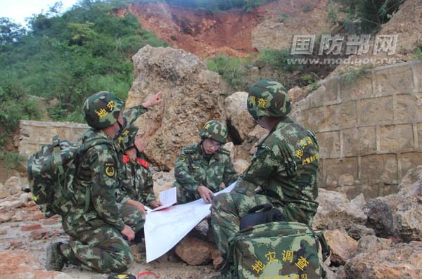 武警黄金部队绘制完成首张震区地质灾害排查评估地图图片