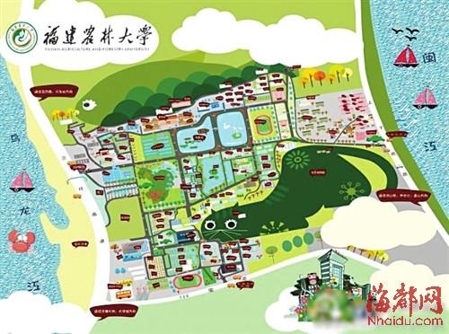 湖南农业大学钢笔画-热心学长 手绘农大地图图片